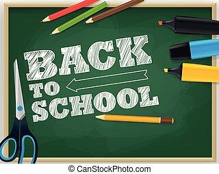Back to school vector concept
