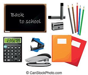 Back to school, vector elements, school icons