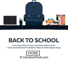 Back to School, vector illustration.