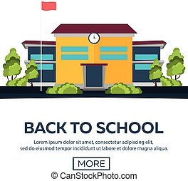 Back to School. Vector illustration.