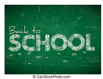 Back to school vector illustration - Back to school vector...