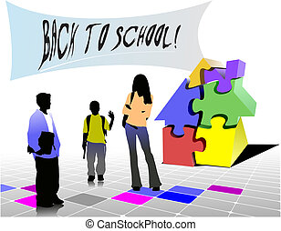 Back to school. Vector illustration