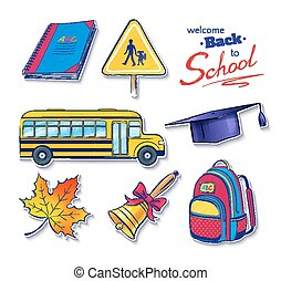 Back to school vector set.
