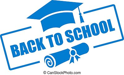 Back to school vector sign