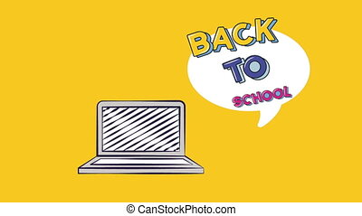 Back to school video animation