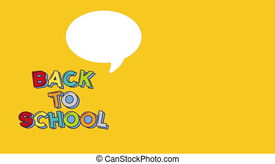 Back to school video animation whit text ball and coloful...