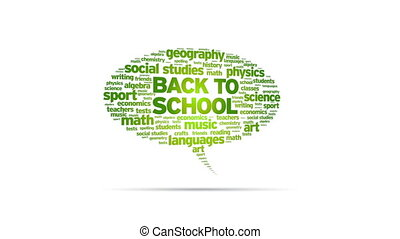 Back To School - Animated rotating Back To School Speech...