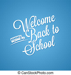 back to school vintage lettering background