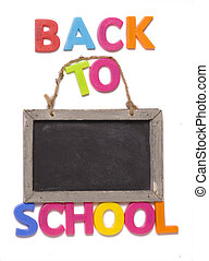 Back to school with blackboard