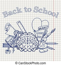Back to school with brain stationery