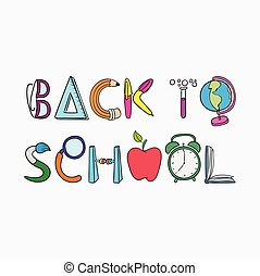 Back To School With Stationery Text