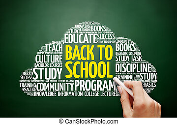 Back to School word cloud, education concept