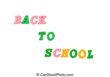 Back to school words isolated on the white