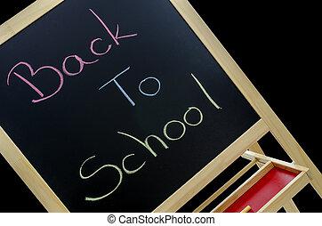 Back to school written in colors