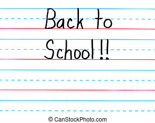 Back to School Written on a Lined Dry Erase Board