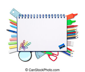 Back to schooll, notebook and supplies