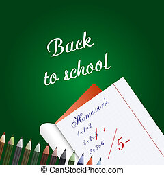 Back to school.Vector