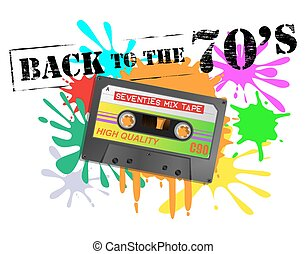 Back To The Seventies Cassette Background