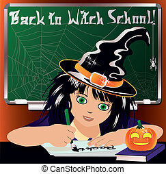 Back to Witch School. Cute witch