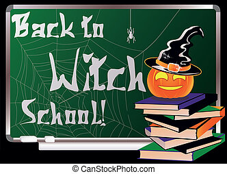 Back to Witch School. Greeting card