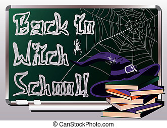 Back to Witch School. Invitation