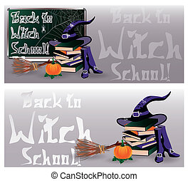 Back to Witch School. Magic banner
