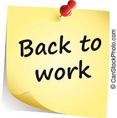 Back to work note vector
