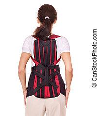 back., trauma, posture., corsetto