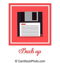 Back up design - Back up digital design, vector illustration...