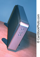 back up drive - external hard drive on a kilter focus on...