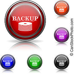 Back-up icon - Shiny glossy colored icons - six colors...
