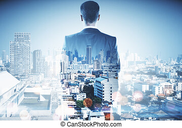 Success and ambition concept