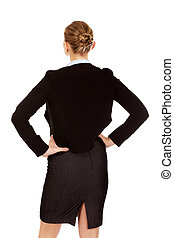Back view of elegant businsess woman