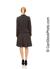 Back view of elegant businsess woman.