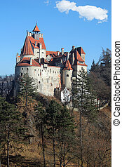 Back view of the Bran Castle, Romania