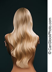 woman with long blond hair