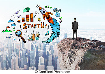 Risk and startup concept