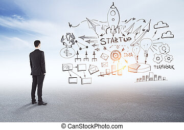 Start up and idea concept