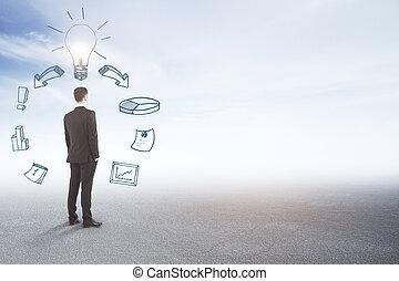 Finance and idea concept