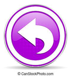 back violet icon arrow sign