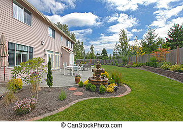 Back yard - Large back yard of a nice home near Seattle, WA....