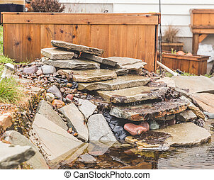 Back Yard Stone Pond