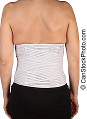 backache medicinal corset on white background