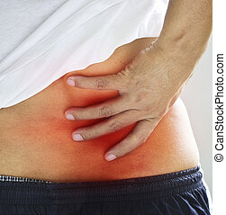 Backache. Pain in the lower back