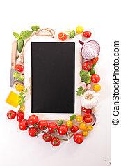 backboard and vegetable