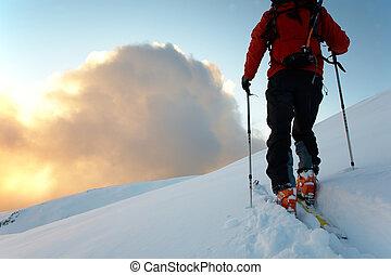 backcountry, スキーヤー