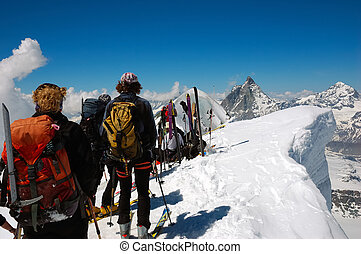BACKCOUNTRY SKIERS - backcountry skiesr (ski touring) on ...