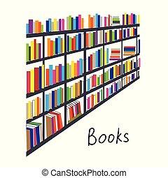 backcround, rijen, boekjes , bibliotheek