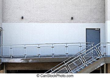 Backdoor - Back door and emergency exit at warehouse