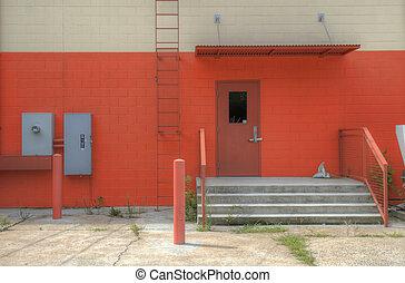 backdoor of a building - gritty backdoor in a alleyway